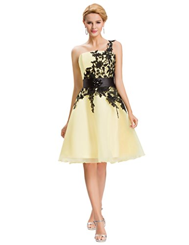 Sexy Cocktail Party Dress Yellow