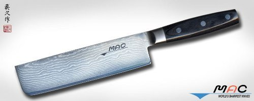 Mac Knife Damascus Nakiri Knife, 7-Inch