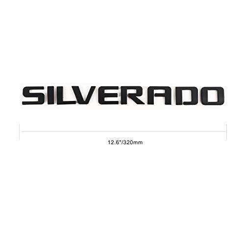 3D Emblem Badge for Chevy Silverado (Matte Black) (Badge Silverado Chevy)