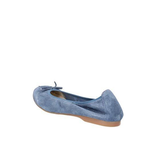 Scamosciata Blu Docksteps Pelle Ballerine Donna IrwtwqU