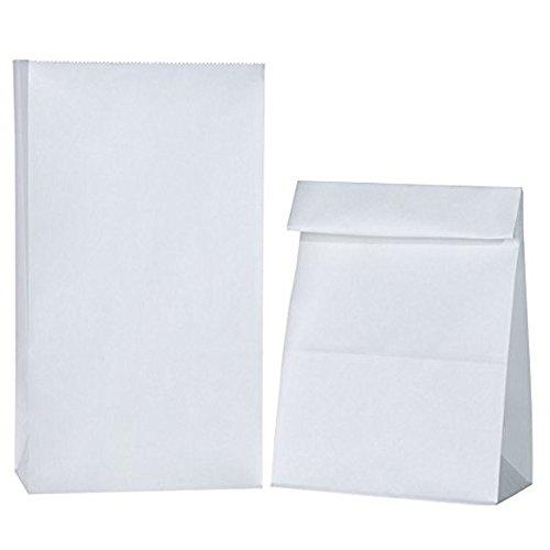 6lb White Rainbow Paper Bags 200 Count (2 x 100 Packs) - 200 Bag Ct