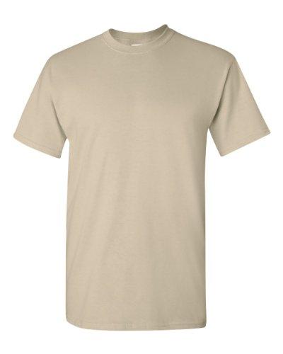 Corta xl Uomo Manica Maglietta sabbia Cotton Gildan Heavy FxCOqSw