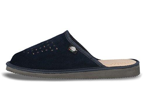 Ecoslippers Suede Touch Green, Sandales Compensées Femme - Bleu - Bleu Marine, 43,5 EU