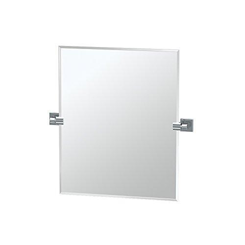 Gatco 4079sm Elevate Espejo Rectángulo Pequeño, Contemporáneo, Cromado