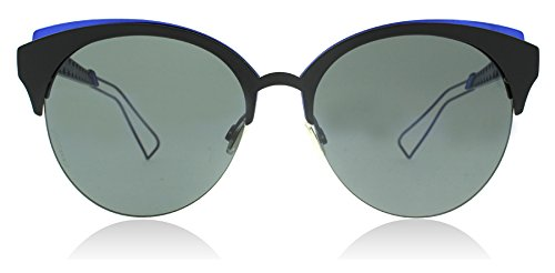 Christian Dior Diorama Club G5V2K Matte Black / Blue Diorama Club Round - Diorama Sunglasses