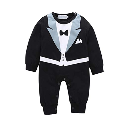 LJYH Baby Boy Romper Tuxedo Jumpsuit Gentleman One-Piece for sale  Delivered anywhere in USA