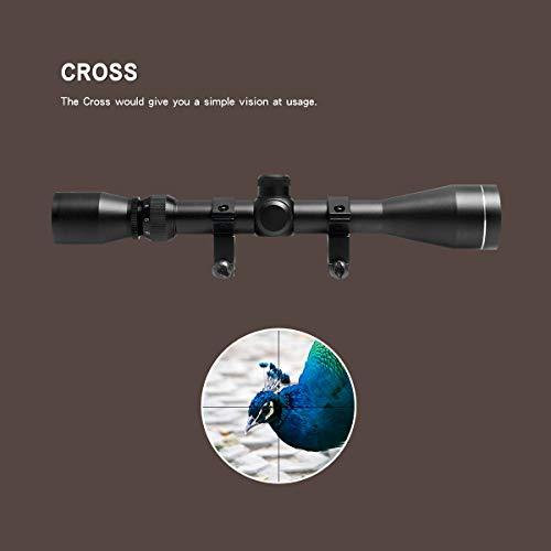 Goetland 3-9x40 Lunettes de Visée Optique R4 Réticule Tactique en Croix Chasse avec Montures 3