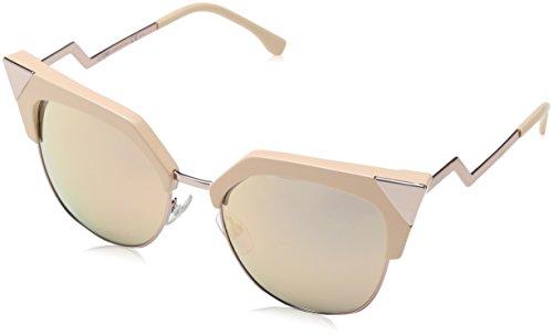 Fendi Pink Sunglasses (Fendi Women's Iridia Corner Accent Sunglasses, Pink/Rose Gold, One Size)