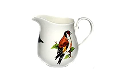 GARDEN BIRDS Ceramic TRAVEL MUG with Lid BULLFINCH Long Thrush diy mug