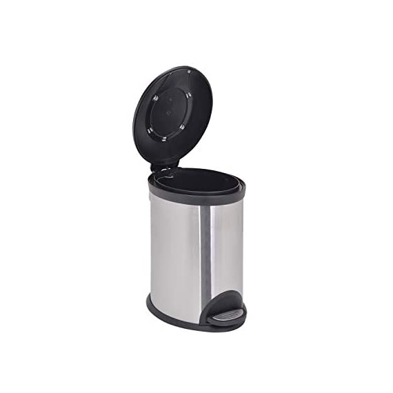 Bathla Contempo Stainless Steel Pedal Step Dustbin - Small (5 L) 4