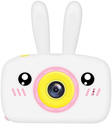 Child Cartoon Camera Toys Gift for Baby Girls BoysKids Children`s Camera Photo Video Game Anti-Fall HD Toy Photography for Toddlers 1-10 Years Old Boys Girls Toy Gift Camcorder for Outdoor (White) / Child Cartoon Camera Toys Gift f...