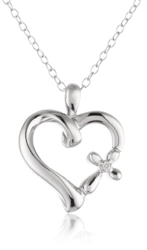 Sterling Silver Diamond Accent Pendant Necklace