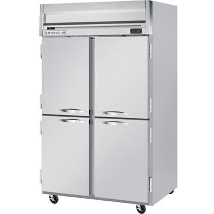 Beverage-Air HRP2-1HS Horizon Series Two Sections Solid Half Door Reach-In Refrigerator 49 cu.ft. capacity Stainless Steel Front and Sides Aluminum by Horizon Series