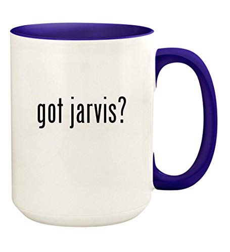got jarvis? - 15oz Ceramic Colored Handle and Inside Coffee Mug Cup, Deep Purple