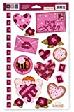 We R Memory Keepers - Embossible Designs - Embossed Cardstock Stickers - Valentines - For My Love, CLEARANCE
