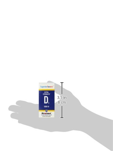 Superior Source, MicroLingual, vitamina D3 Sublingual - 5000 IU x100tabs: Amazon.es: Salud y cuidado personal
