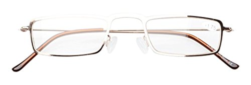 2f3a42933d4 Eyekepper 5-Pack Stainless Steel Frame Half-eye Style Reading ...