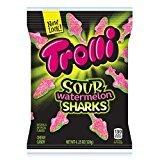 Trolli Sour Watermelon Sharks Gummy Candy, 4.25 oz
