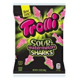 Trolli Sour Watermelon Sharks Gummy Candy, 4.25 oz