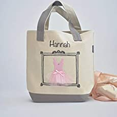 ef30663e12 Small Ballerina Tote, Dance Bag, Personalized Flower Girl Gifts, Tutu Ballet .