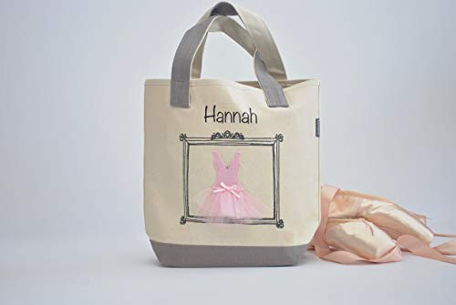 Small Ballerina Tote, Dance Bag, Personalized Flower Girl Gifts, Tutu Ballet -