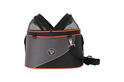 DoggyRide Cocoon Pet Carrier, Airline Carrier, car seat and Ready for use as Bicycle Basket, Large, Anthracite/Orange by DoggyRide (Image #1)