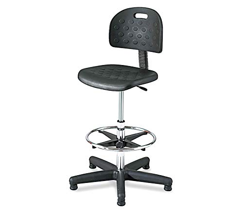 (Premium Soft Tough Economy Workbench Chair (Optional arms Sold Separately), Black )