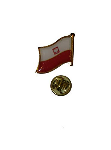 - Mikash Polish Eagle Poland Polska Country Flag Bike Motorcycle Hat Cap Lapel Pin | Model FLG - 3942