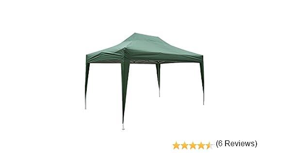 Outsunny Carpa 3x4,5m Plegable EN ACORDEON Toldo Verde Acero y Poliester Impermeable: Amazon.es: Hogar