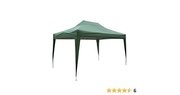 Outsunny Carpa 3x4,5m Plegable EN ACORDEON Toldo Verde Acero y Poliester Impermeable