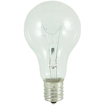 (Pack of 12) Bulbrite 104241,12PK, 40W, A15, Intermediate Base, 130V, 2700K, 2,500Hrs, Clear, Incandescent Fan Light Bulbs