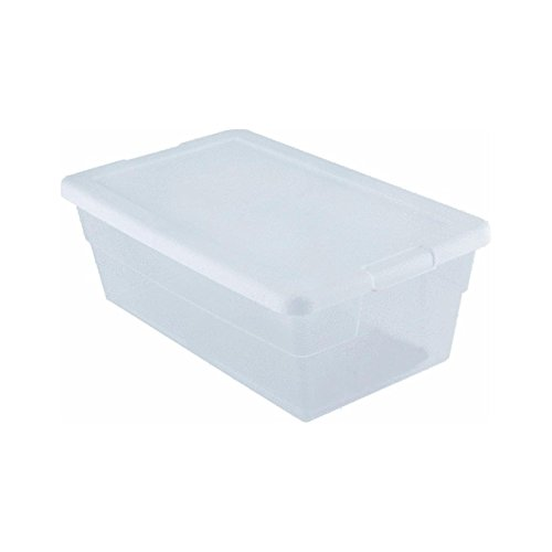 Sterilite Storage Box 13.5 X 8.3 X 4.8, 6 Qt. Clear - Pack