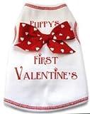 Puppy's First Valentine Dog Pet Tshirt Tank Medium