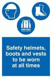 Viking signos mc516-a2p-ac Cascos de seguridad, botas y chalecos para ser