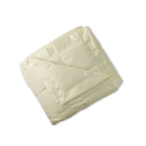 Sunflower DBE-107K Hypoallergenic Down Blanket, King, (Ivory Satin Trim)