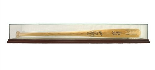 MLB Glass Baseball Bat Glass Display Case, Cherry