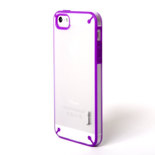 Apple iPhone 5/5S/SE Case - Poetic [Atmosphere Series] - [Lightweight] [Slim-Fit] Slim-Fit Tranparent Hybrid Case for Apple iPhone 5/iPhone 5S(2013)/ iPhone SE (2016) Clear/Purple (3 Year Manufacturer Warranty From Poetic)