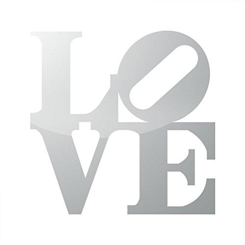 RDW Metallic Love Park Sticker Die Cut Philly Philadelphia - Silver
