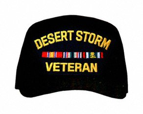 MilitaryBest Operation Desert Storm Veteran with Ribbons Ball Cap