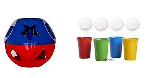 Tupperware Holiday Puzzle Ball and Matching Tumblers with Sipper Tops]()