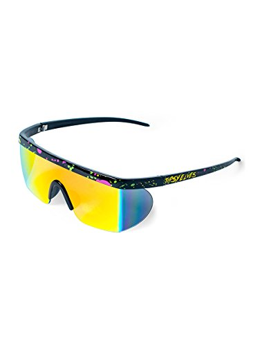 Unisex Mirrored Lens Paint Splatter Frame Sunglasses