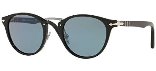 ویکالا · خرید  اصل اورجینال · خرید از آمازون · Persol PO3108S - 95/56 Sunglasses Black w/ Light Blue Lens 49mm wekala · ویکالا