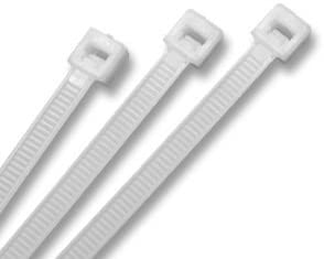 """200 Pack Lot Pcs Qty Natural White 10/"""" Inch Nylon Cable Zip Wire Tie 50 lbs"""