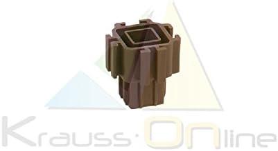Pack 8 Conectores Huerto Urbano Modular Plastico Marron: Amazon.es ...