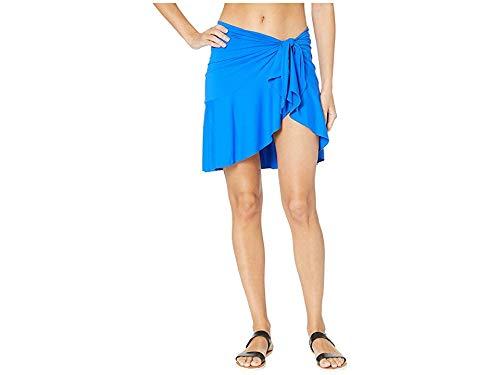 (Bleu Rod Beattie Women's Gypset Ruffle Sarong Dise-Tie Skirt Cover-Up Aruba Bleu Medium/Large )