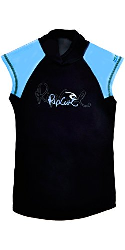Rip Curl Core Ladies Hotskin 0.5mm Cap Sleeve Vest Black/Blue W8268W