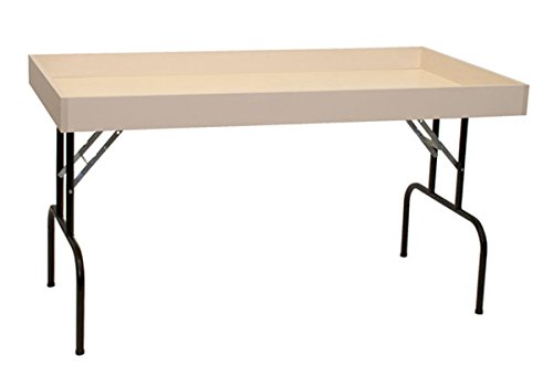 Retail Display Dump Folding Table 30''W x 60''L Ship Knockdown Almond Lot of 2 NEW by Unknown