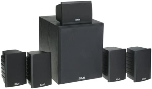 KLH SS02-HTIB 100W 6-Piece Home Theater Speaker System with 8 120W Front Firing Subwoofer Discontinued by Manufacturer