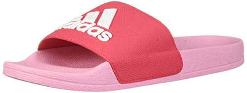 adidas Unisex Adilette Shower, Active Pink/White/True Pink, 13K M US Little Kid -