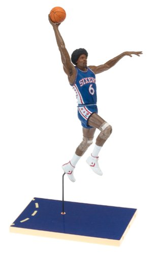 Julius Erving #6 Blue Jersey Philadelphia 76'ers McFarlane NBA Legends Hardwood Classics Six Inch Action Figure ()